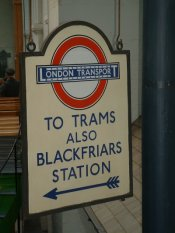 a sign at the london transport museum