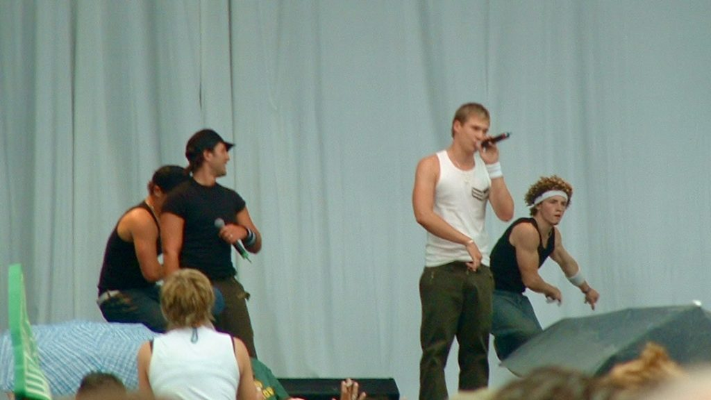 Blue on stage at Pride 2003